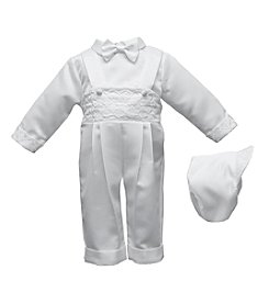 Lauren Madison® Baby Boys Long Overall Pants With Diamond Embroidery