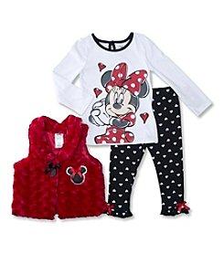 Nannette® Girls' 2T-4T 3-Piece Minnie Vest Set