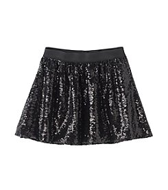 Jessica Simpson Girls' 7-16 Sequin Mesh Skirt