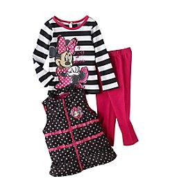 Nannette® Girls' 2T-6X 3-Piece Minnie Vest Set *