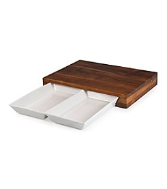 Heritage Collection by Fabio Viviani Legacy® Compagno Aacia and Ceramic Cutting Board with Chop Trays