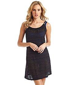J. Valdi® Sea Scallop Double Braid Strap Tank Dress Cover Up