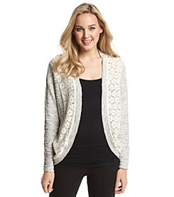 Fever™ Open Front Lace Cardigan