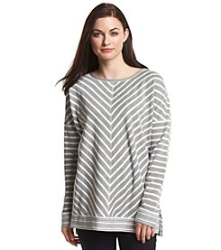 Cable & Gauge® Stripe Pullover Sweater
