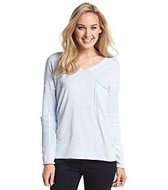 Democracy Pigment Dye V-Neck Sweater