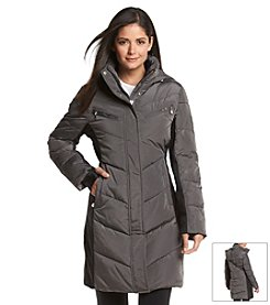Calvin Klein Performance Colorblocked Chevron Quilted Coat