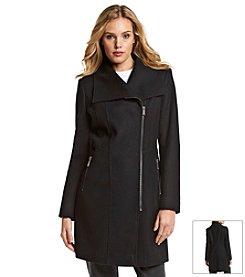 DKNY® Wool Zipper Peacoat