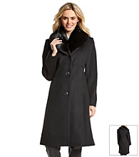 Jones New York® Walker With Faux Fur Shawl Collar