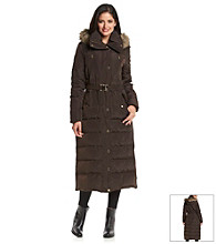 MICHAEL Michael Kors® Long Down Full Zip Faux Fur Trim Coat