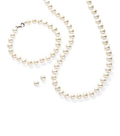 Effy® Cultured Freshwater Pearl Strand, Bracelet and Earrings Set in Sterling Silver