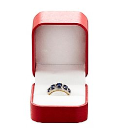 Sapphire and 0.15 ct. t.w. Diamond Ring in 10K Yellow Gold