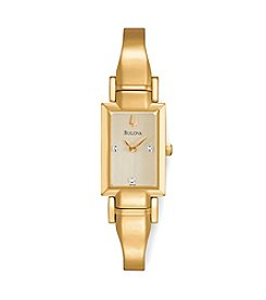 Bulova® Women's Goldtone Diamond Accent Watch