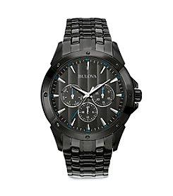 Bulova® Men's Black Ion-Plated Watch
