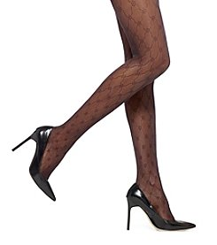 HUE® Arabesque Sheer Control Top Tights