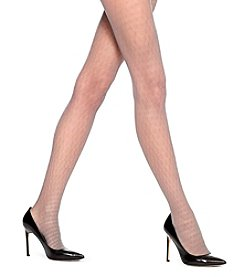 HUE® Pointelle Dot Sheer Control Top Tights