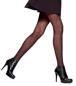 HUE® Wallpaper Lace Control Top Tights
