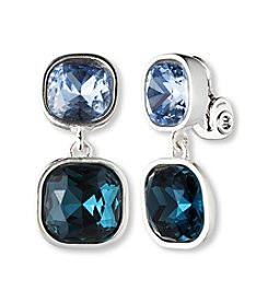 Anne Klein® Blue Clip Earrings