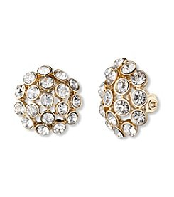 Anne Klein® Crystal Clip Earrings