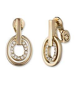 Anne Klein® Pave Clip Drop Earrings