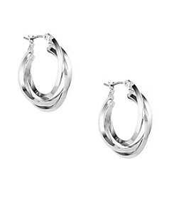 Anne Klein® Three Ring Hoop Earrings