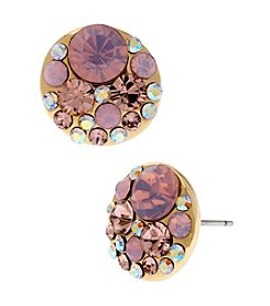 Betsey Johnson® Pin Faceted Bead Round Stud Earrings