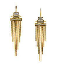 Vince Camuto™ Stone & Fringe Leverback Earrings