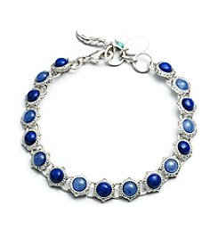 Nine West Vintage America Collection® Blue Mix of Beads and Semiprecious Stone Bracelet