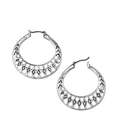 The Sak® Openwork Metal Hoop Earrings