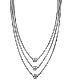 Jessica Simpson 18'' Pave Multi Layer Drop Necklace