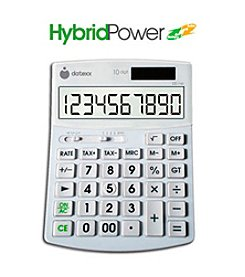 Datexx® Hybrid Power 10-Digit Desktop Calculator