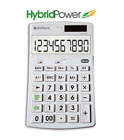 Datexx® Hybrid Enhanced Solar Powered 10-Digit Desktop Calculator