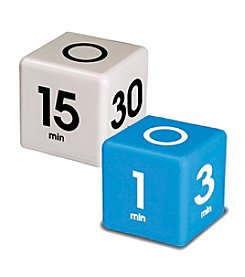 Datexx® Set of 2 White and Blue Miracle Cube Timers