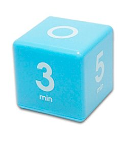 Datexx® Blue Miracle Cube Timer with 1, 3, 5, and 7 Minute Preset Times