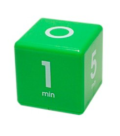 Datexx® Green Miracle Cube Timer with 1, 5, 10, and 15 Minute Preset Times