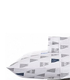 Nautica® Moonsail Flags Flannel Sheet Set