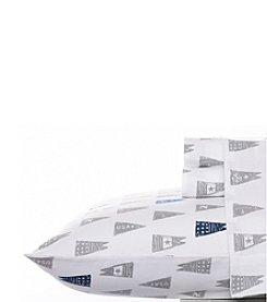 Nautica® Moonsail Flags Flannel Sheet Set