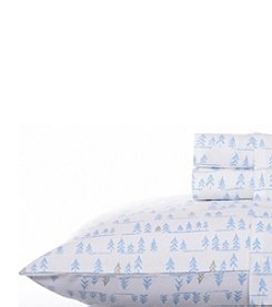 Nautica® Rangeley Trees Flannel Sheet Set