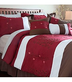 Lavish Home Sarah Embroidered 7-pc. Comforter Set