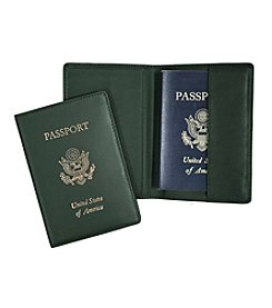 Royce® Leather Gold Stamped Passport Jacket Travel Wallet