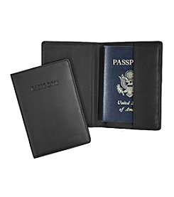 Royce® Leather Debossed Passport Jacket Travel Wallet