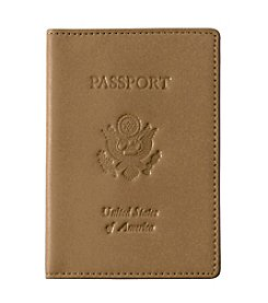 Royce® Leather Debossed U.S. Seal Passport Jacket Travel Wallet