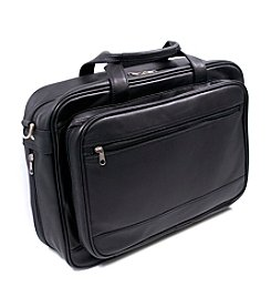 Royce® Leather Expandable Laptop Briefcase Organizer Bag