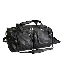 Royce® Leather Colombian Vaquetta Leather Sports Duffel Travel Bag