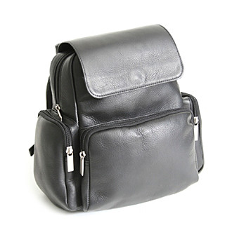Royce® Leather Colombian Vaquetta Leather Knapsack Backpack