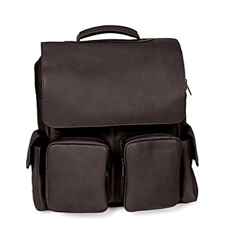 Royce® Leather Vaquetta Leather Laptop Backpack