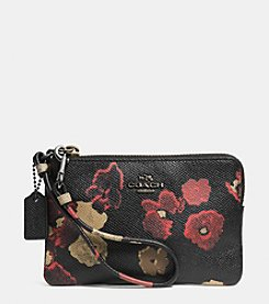 COACH SMALL WRISTLET IN FLORAL PRINT LEATHER