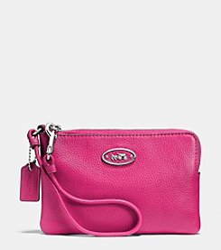 COACH L-ZIP SMALL WRISTLET IN LEATHER