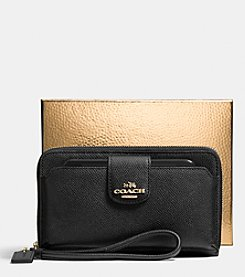COACH POCKET UNIVERSAL PHONE WALLET IN LEATHER