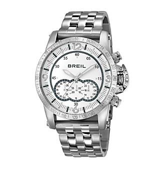 Breil Men's Aviator Watch with Silvertone Bracelet
