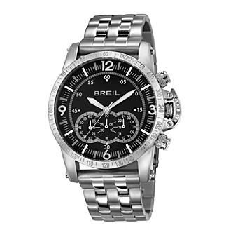 Breil Men's Aviator Watch with Black Dial